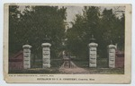 Entrance to U.S. Cemetery, Corinth, Miss.