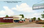U.S. Highway 61 (Edward Street) through Mound Bayou, Miss. by Curteich (Chicago, Ill.)
