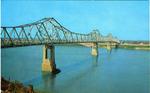 Natchez-Vidalia Bridge Across the Mississippi River, Natchez, Miss. by Curteich (Chicago, Ill.)