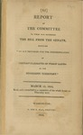 "Report of the Committee to whom was referred the bill from the Senate entitled ""an act providing for the indemnification of certain claimants of public lands in the Mississippi territory."" March 15, 1814, Read and committed to a committee of the whole house on Thursday next by George Blake and United States. Congress. House"