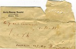 Envelope, now empty, allegedly contained teeth by Martha Alice Stewart