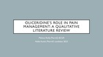 R22. Oliceridine's role in pain management: a qualitative literature review by Hallie Austin and Melissa Reilly