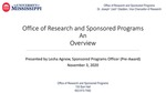 Proposal Budgeting (Pre-Award Planning for Post-Award Administration)
