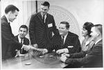 Sidna Brower in a meeting with unidentified others by Sidna Brower Mitchell