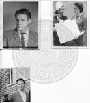 Page with three photos, subjects identified as Morris Spivey, Greasy Charlie the Sandwich Man Blackwell, and Sidna Brower and an unidentified woman holding an award certificate by Sidna Brower Mitchell