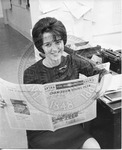 Sidna Brower with newspaper by Sidna Brower Mitchell