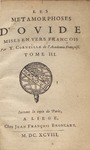 Les Metamorphoses d'Ovide, t. 3 (Selections) by Ovid and Thomas Corneille