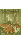 Alexanders Back from Dixie! (with His Ragtime Band) / music by Pete Wendling; words by Lew Colwell by Pete Wendling, Lew Colwell, and Lee S. Roberts (Chicago)