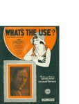 What's The Use?/ words by Isham Jones and Charles Newman by Isham Jones, Charles Newman, and Leo Feist Inc. (New York)