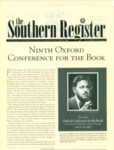 Southern Register. 2002.1 (Winter 2002) by University of Mississippi. Center for the Study of Southern Culture.
