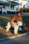 Federal Court Judge with Dog Rupert [South Fifth Street] by Robert Caldwell