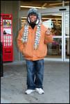 Bag Man [Larson's Big Star, University Avenue] by Robert Caldwell