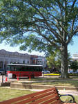Bus on Courthouse Square by Callie Flowers