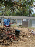 Bicycles in Front of Mobile Home by Carroll Gunn