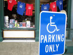 Handicapped Parking at Off-Square Books by Jennifer Lawrence