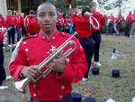 Trumpet Player, The Grove [University of Mississippi] by Ben Guest