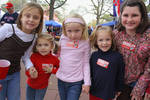 Girls with Colonel Reb Stickers, The Grove [University of Mississippi] by Amanda Lillard