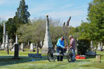 Cannon in Cemetery by Leslie Hassel