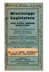Hand book : biographical data of members of Senate and House, personnel of standing committees [1936] by Mississippi. Legislature