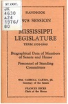Hand book : biographical data of members of Senate and House, personnel of standing committees [1976]