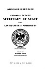 Mississippi Blue Book. Biennial report of the Secretary of State to the Legislature of Mississippi. [1937-1939]
