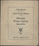 Program: Eighth Annual Meeting of the Mississippi Woman Suffrage Association by Mississippi Woman Suffrage Association