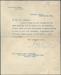 President Taft Letter by Mississippi Woman Suffrage Association and William H. Taft