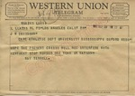 Ray Terrell to J. W. Davidson, 29 September 1962 by Ray Terrell