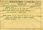 Kappa Alpha Order Gamma Pi Chapter to Kappa Alpha Order Alpha Upsilon Chapter, 28 September 1962 by Kappa Alpha Order