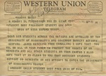 Gregory Gallo, Student Body President, University of Wisconsin to Student Body President, Student Gov Ofc, University of Mississippi, 29 September 1962 by Gregory Gallo