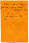 Letter, Joseph Thompson to Jacob Thompson by Joseph Thompson