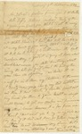 Letter, Nicholas Thompson to Jacob Thompson by Nicholas Thompson