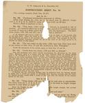 Broadsheet. C.W. Keeland & Co. Practice Set, Instruction Sheet No. 16 by Women of the Ku Klux Klan